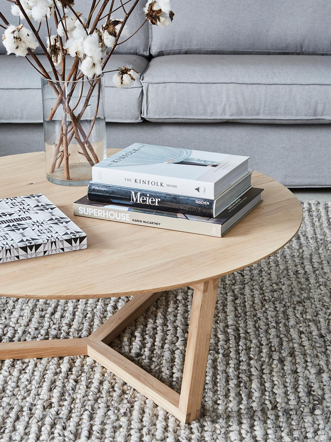 stylish books and table
