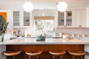 Beautiful bright clean kitchen - Photo via Unsplash by Rustic Vegan